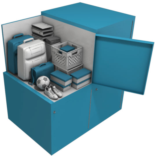 rendering of a storage locker