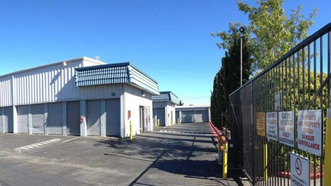 Inside San Mateo storage facility gate.
