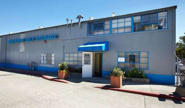 exterior of Marinship Self Storage facility on a sunny day
